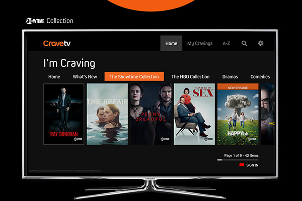 Crave TV on Samsung Connected TV